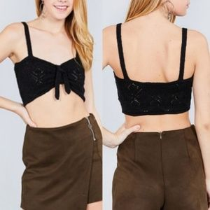 Tops - BLACK CROPPED TOP